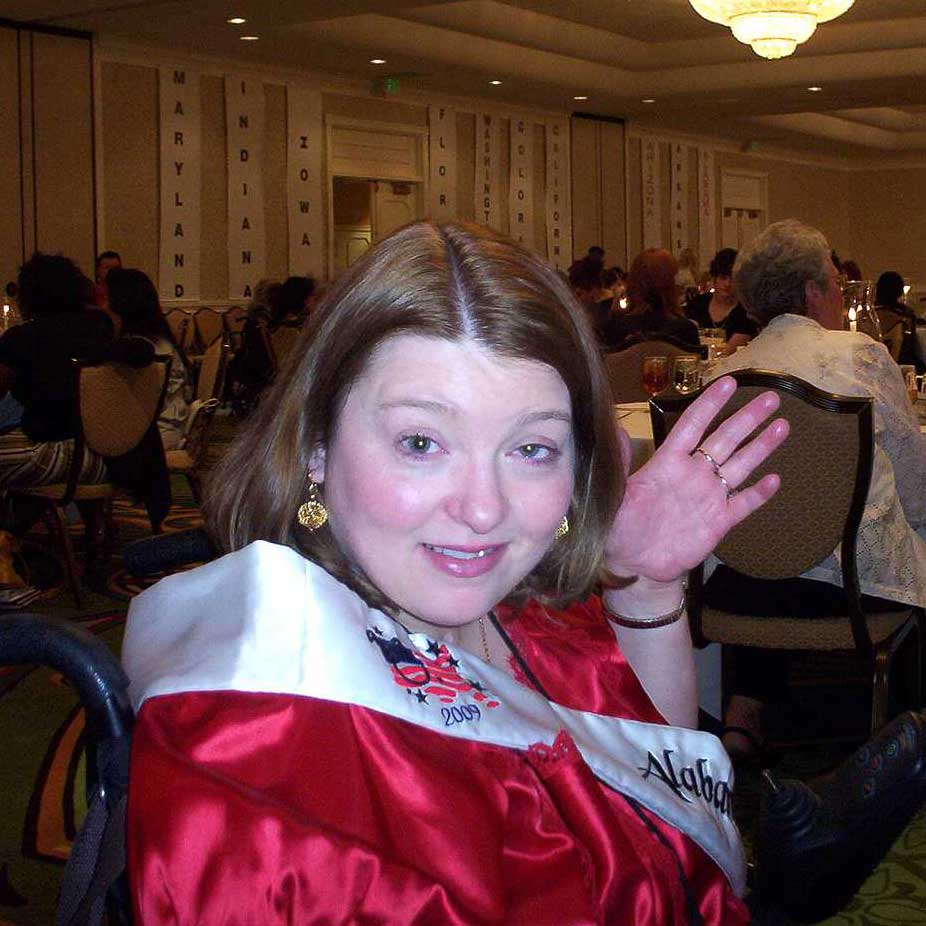 Dinner at the 2009 Ms. Wheelchair America Pageant.