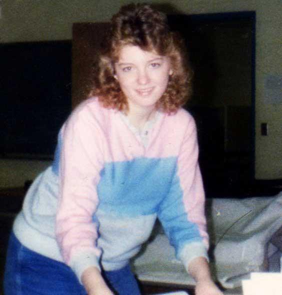 Me in class, 1986.
