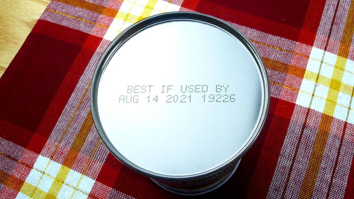 """BEST IF USED BY"" date on a can of food"