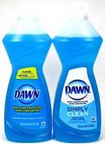 Dawn non-concentrated dishwashing liquid