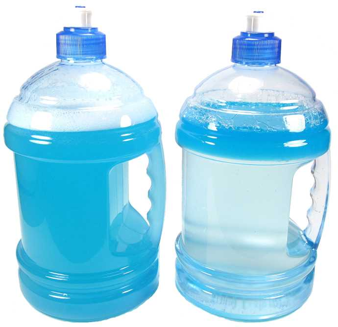 comparison of mixed and unmixed homemade detergent