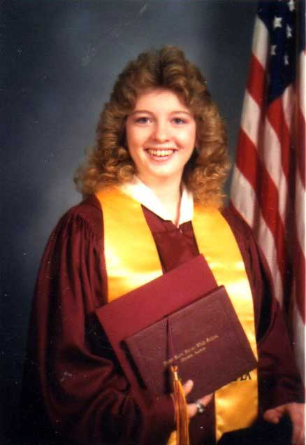 My high school graduation photo. Class of 1987.