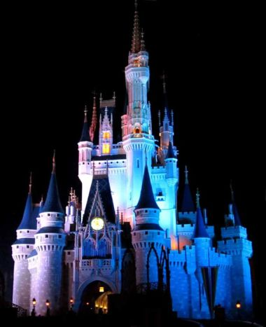 Disney Magic Kingdom Cinderella Castle at night