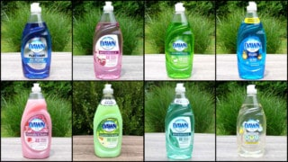 multiple varieties and scents of Dawn dishwashing liquid